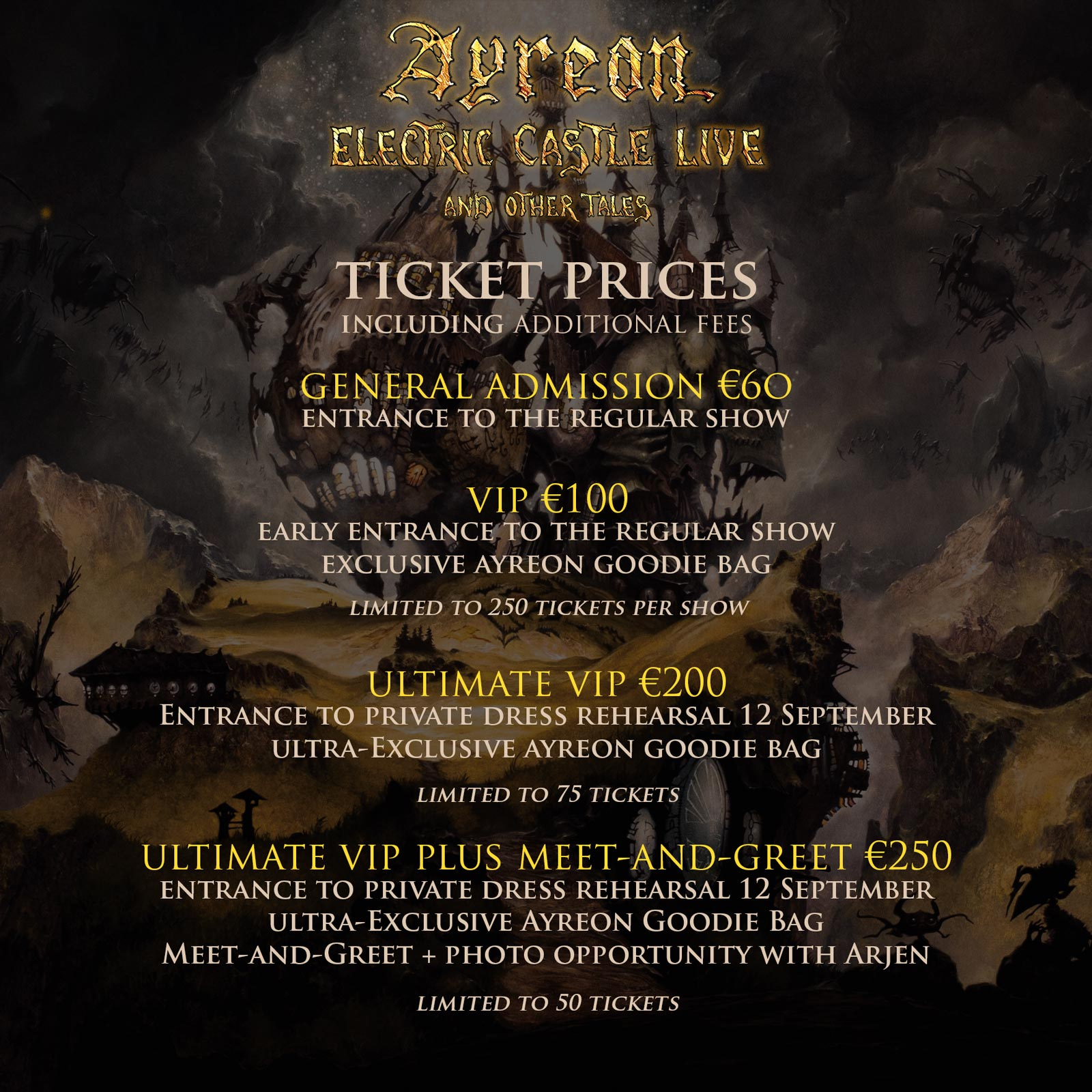 Electric Castle Live and other stories ticket info
